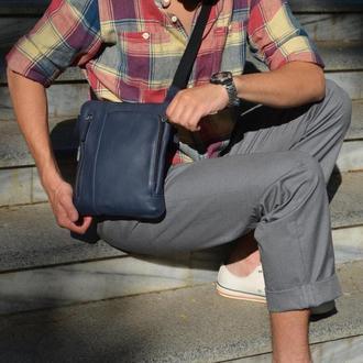 Кожаная мягкая сумка