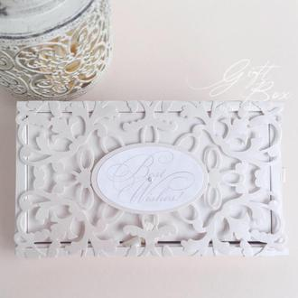"""Gift Box """"Afrodita"""" Цвет 2 (молочный) - открытка в коробочке"""