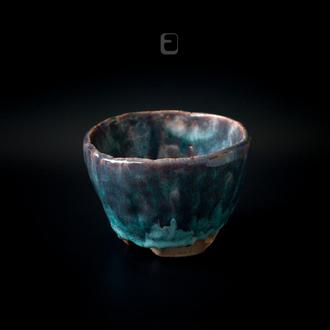 Work no. 327W — BluBro.C7.M, tea bowl in japanese style