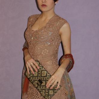 вязаное платье Нежность