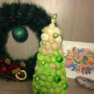 Мягусенькая новогодняя елочка с сизаля