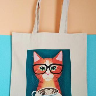 Экосумка кот, шоппер кот, екосумка кіт, сумка коты, экосумка котики, торба кошка, авоська