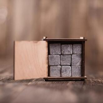 Камни для виски 9 шт в деревянной шкатулке
