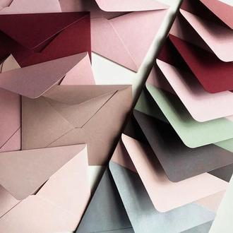 Плотный крафт конверт С6 винтажная роза