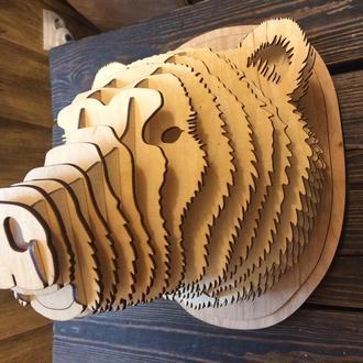 Голова медведя  декор стен, 3d скульптура, настенное украшение