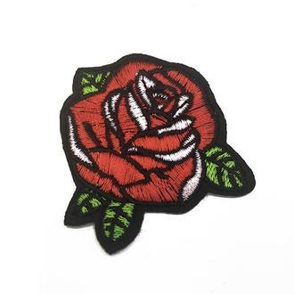 "Темноклеевая нашивка ""Роза"", 55*55 мм | № 00862"