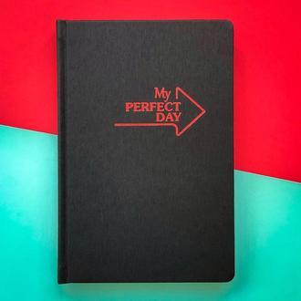 Мотивирующий Планер Planner My perfect day А5 русский язык Красный на чёрном