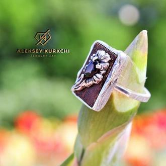 Авторское оригинальное кольцо Цветок огня