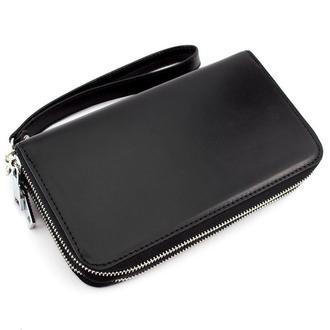 Клатч мужской кожаный CREZ-01 (черный)