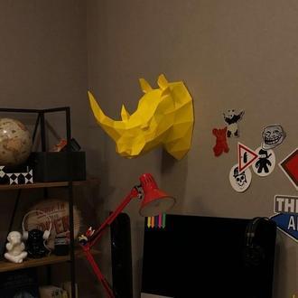 Носорог трофейная голова