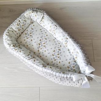 Гнездышко (кокон, бебинест, дорожная кроватка) Butterflies