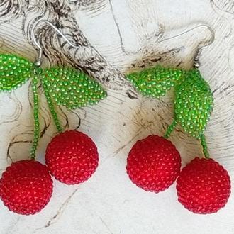 Серьги вишни. Гипоалергенные швензы.