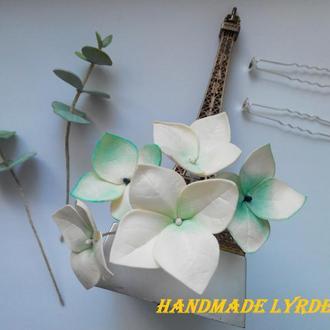 Цветы гортензии на шпильке