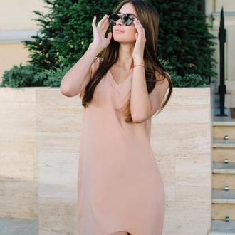 Нежное асимметричное платье-туника