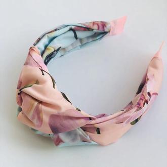 Стильный обруч ободок для волос двухцветний My Scarf