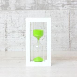 Часы песочные 4-27 салатовый песок