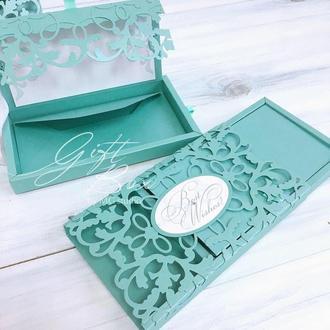 "Gift Box ""Afrodita"" Цвет 8 (тифани) - открытка в коробочке"