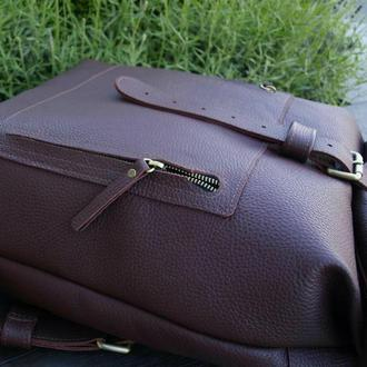 Мужской кожаный рюкзак XXL