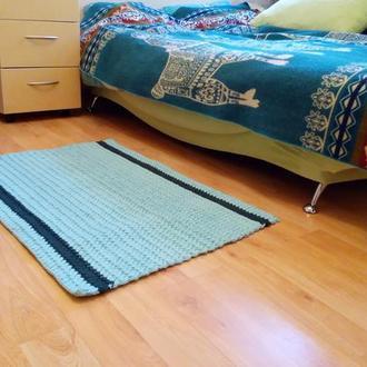 Вязаный ковёр из хлопка