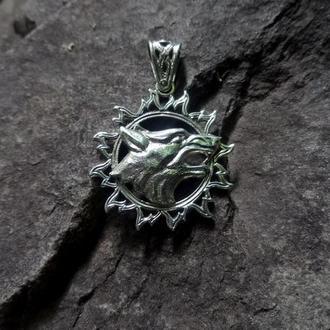Кулон ′ВОВК В СОНЦІ′ (срібло)