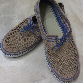 Вязаные туфли