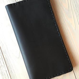 Портмоне мужское кожаное Goose™ classic черный (кожаный кошелек)