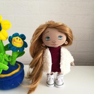 Текстильная интерьерная кукла Алинка