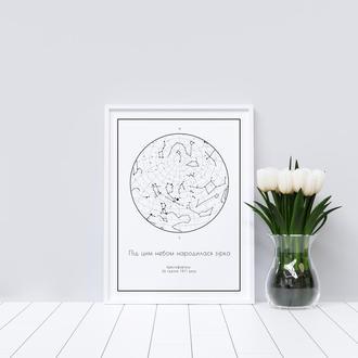 Твоя персональная звёздная карта