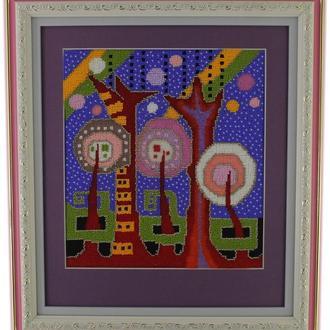 Картины из бисера (fantastic trees)