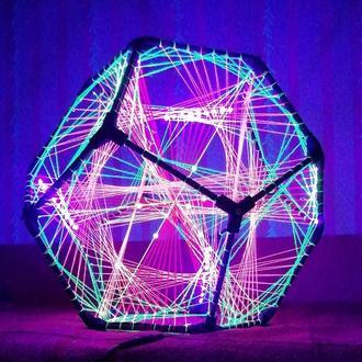 Флуоресцентный LED Додекаэдр