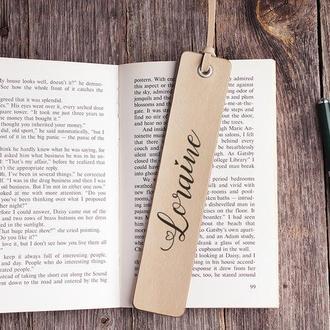Закладка для книги кожаная с любой гравировкой