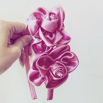 Ободок с цветами Обруч с цветами Цветы в волосы