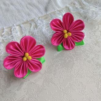 Цветочки на резинке