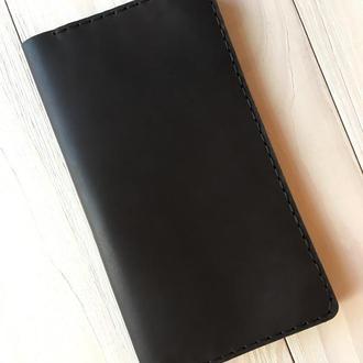 Портмоне из натуральной кожи Goose™ Classic Zipper коричневый (тревел-кейс)