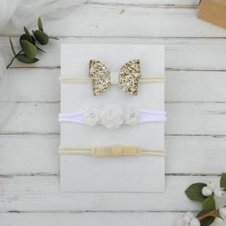 Набор повязок для девочки в подарок, Повязочки для малышки