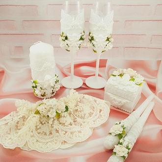 Свадебный набор белый / Білий набір для весілля / Набор для свадьбы с лепниной
