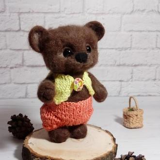 Игрушка медведь. Мишка. Валяный мишка