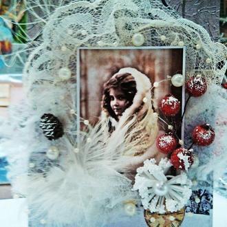 """Открытка новогодняя """"Винтаж"""" Подарок на новый год 2018"""