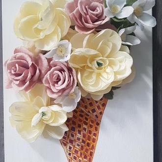 "картина ""Цветочное мороженое"""