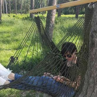 Кресло гамак подвесное из сетки, плетенное