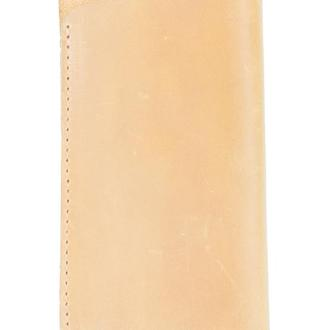Кожаный чехол для очков. 02007/желтый