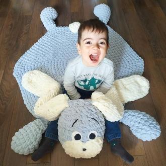 Детский плюшевый коврик Зайчик