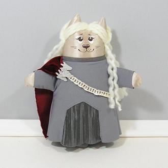 Кошечка Дейенерис Таргариен серия Игра престолов Авторская игрушка дейнерис декор
