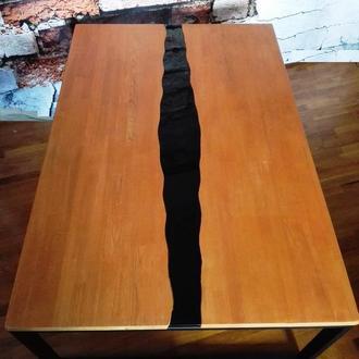 Большой кофейный столик для кальяна лофт 100х150