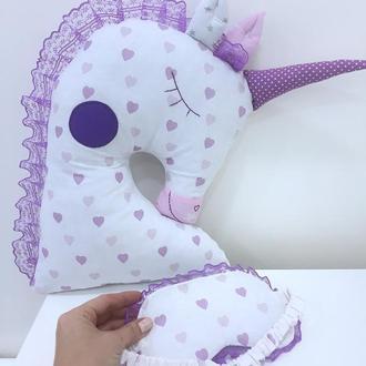 единорог подушка-детская игрушка для сна-декор в детскую-подарки для девочек на день рожденья