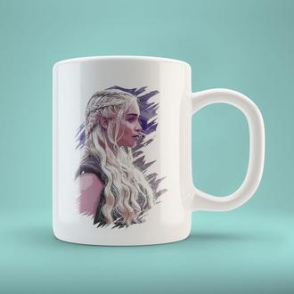 """Чашка с принтом """"Дейнерис Таргариен. Игра престолов"""""""