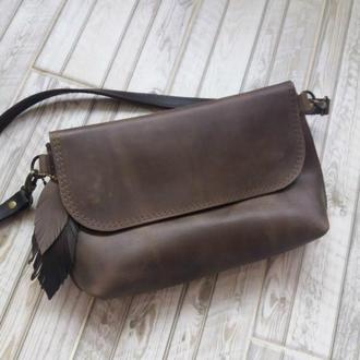 Поясная сумка из натуральной кожи CrazyHorse