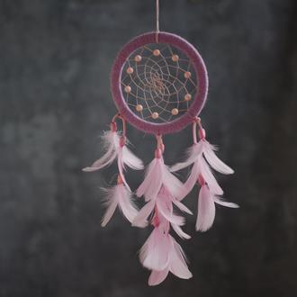 Розовый ловец снов на подарок. Рожевий ловець снів дівчині. Ловець снів для подруги