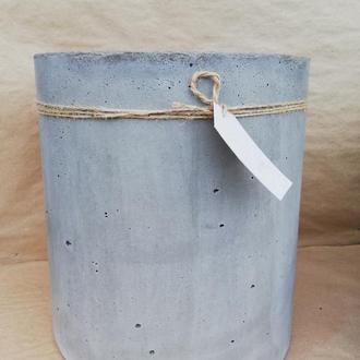 Горшок из бетона, Цилиндр 25см*25см