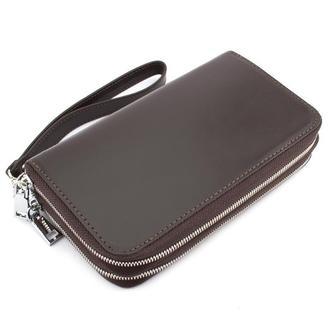 Клатч мужской кожаный CREZ-01 (коричневый)